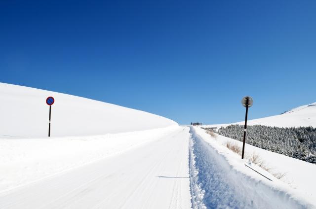 除雪された道を通ることができる!